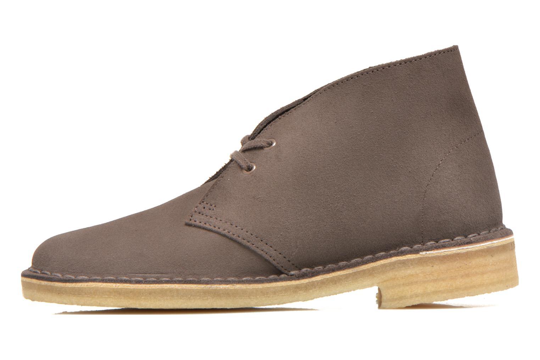 Chaussures à lacets Clarks Desert Boot W Marron vue face