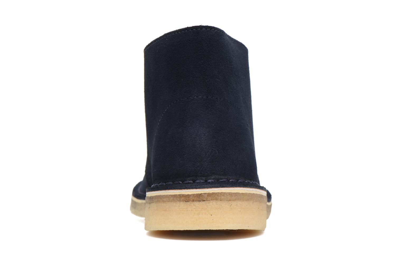 Chaussures à lacets Clarks Desert Boot W Bleu vue droite