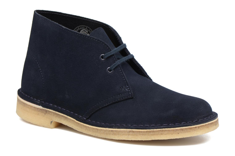 Chaussures à lacets Clarks Desert Boot W Bleu vue détail/paire