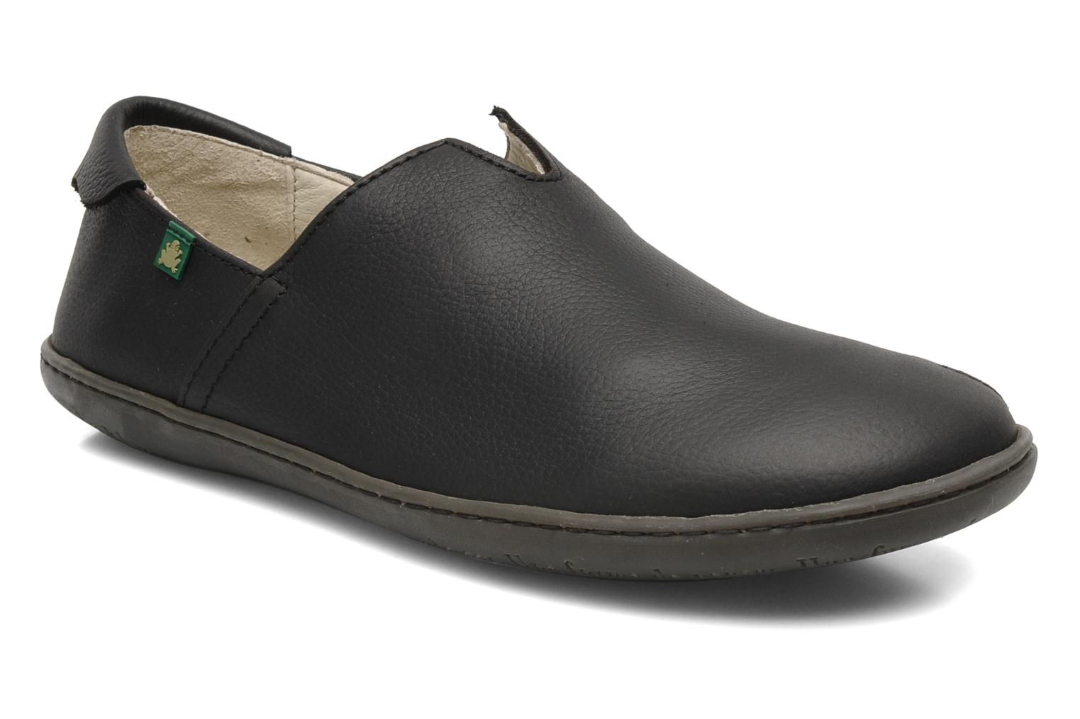 Loafers El Naturalista Viajero Moc N°275 Black detailed view/ Pair view