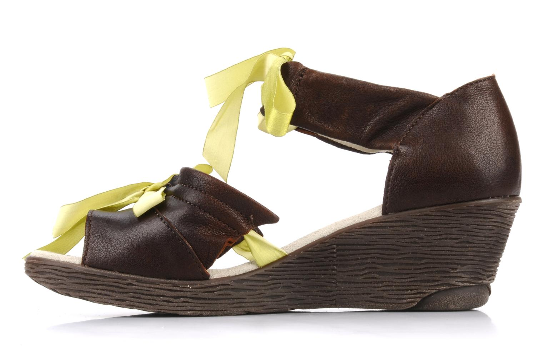 Sandales et nu-pieds Dkode Jeospi Marron vue face