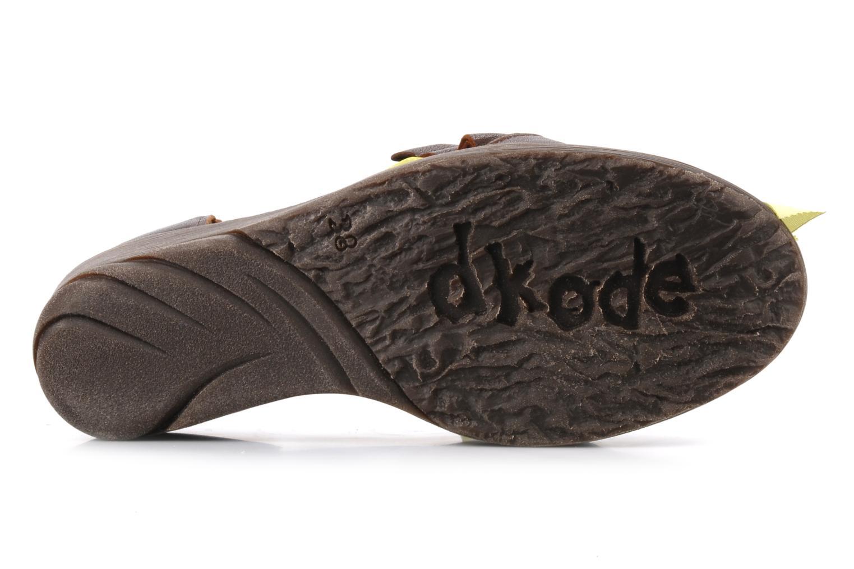 Sandales et nu-pieds Dkode Jeospi Marron vue haut