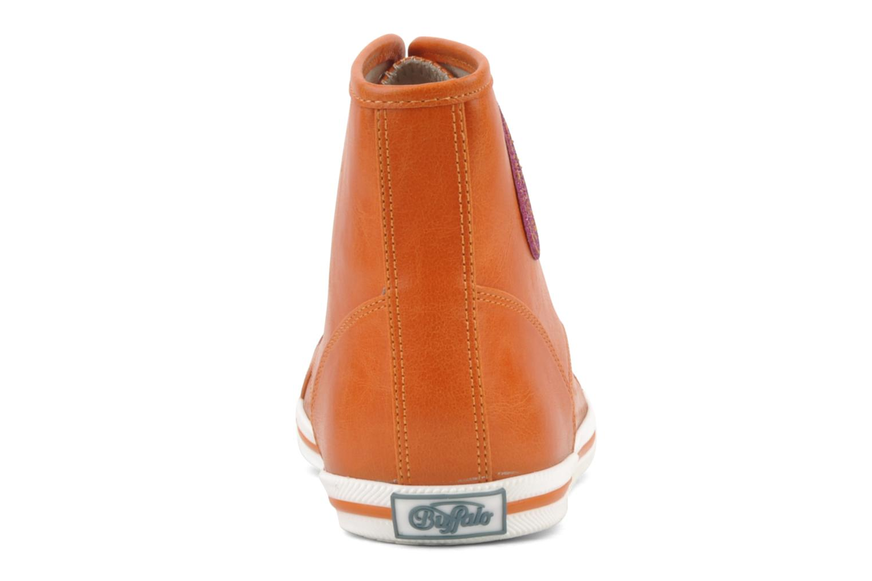 Baskets Buffalo Peace Orange vue droite