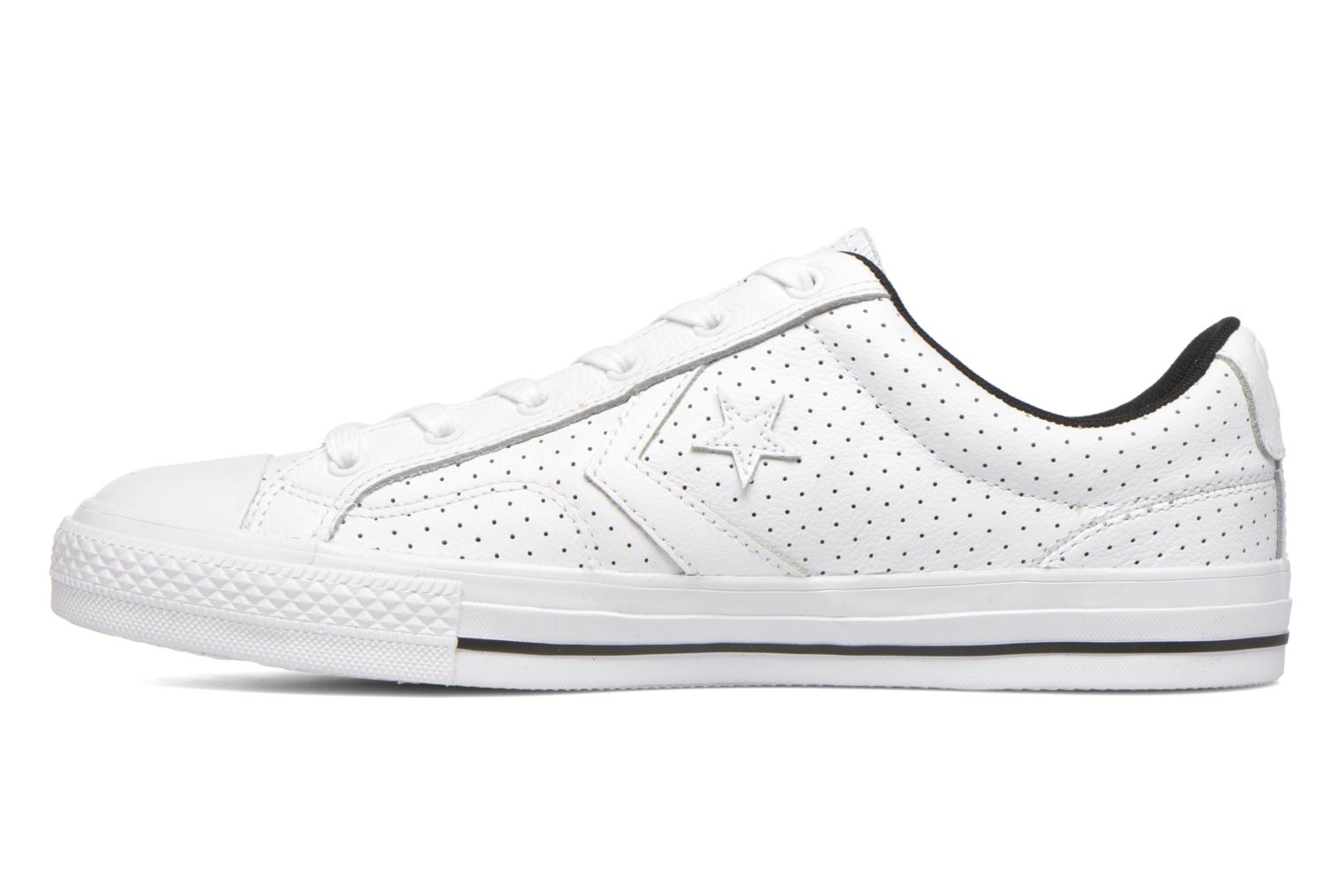 Baskets Converse Star Player Cuir Ev M Blanc vue face