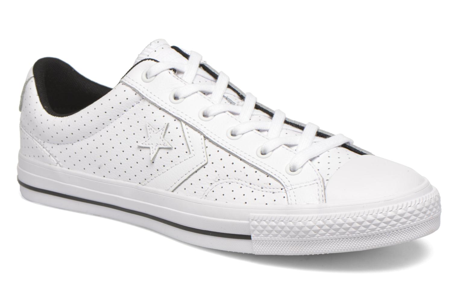 Baskets Converse Star Player Cuir Ev M Blanc vue détail/paire