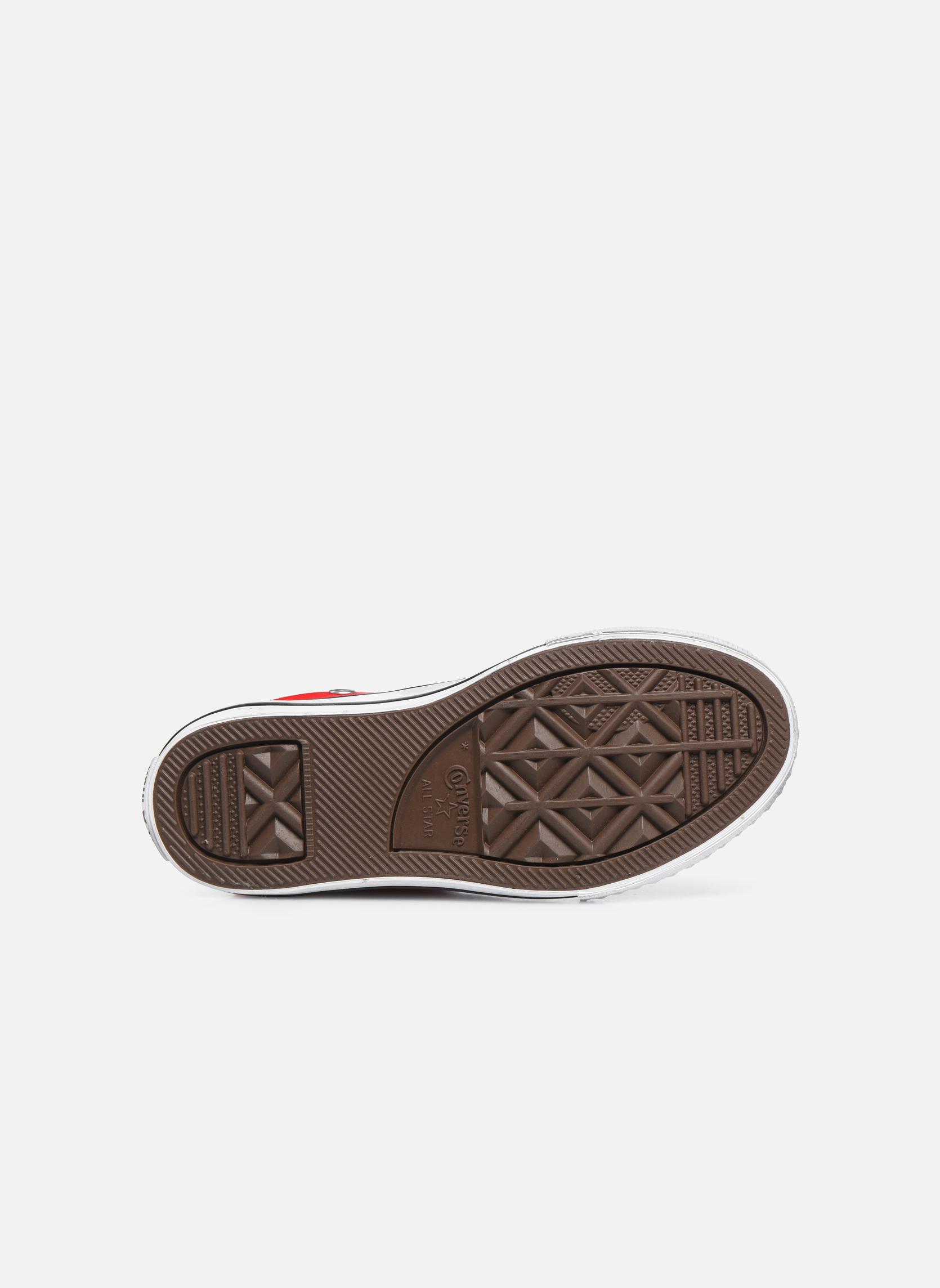 Sneakers Converse Chuck Taylor All Star Core Hi Rosso immagine dall'alto