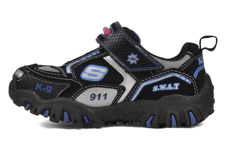 Sneaker Skechers Police schwarz ansicht von vorne