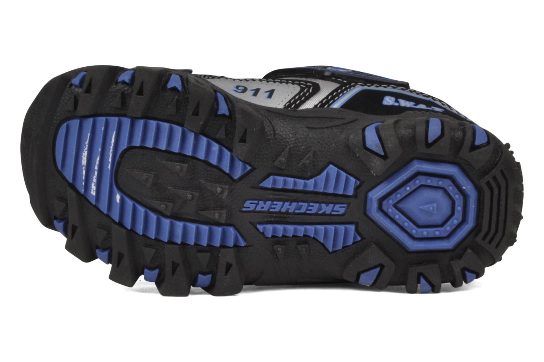 Sneaker Skechers Police schwarz ansicht von oben
