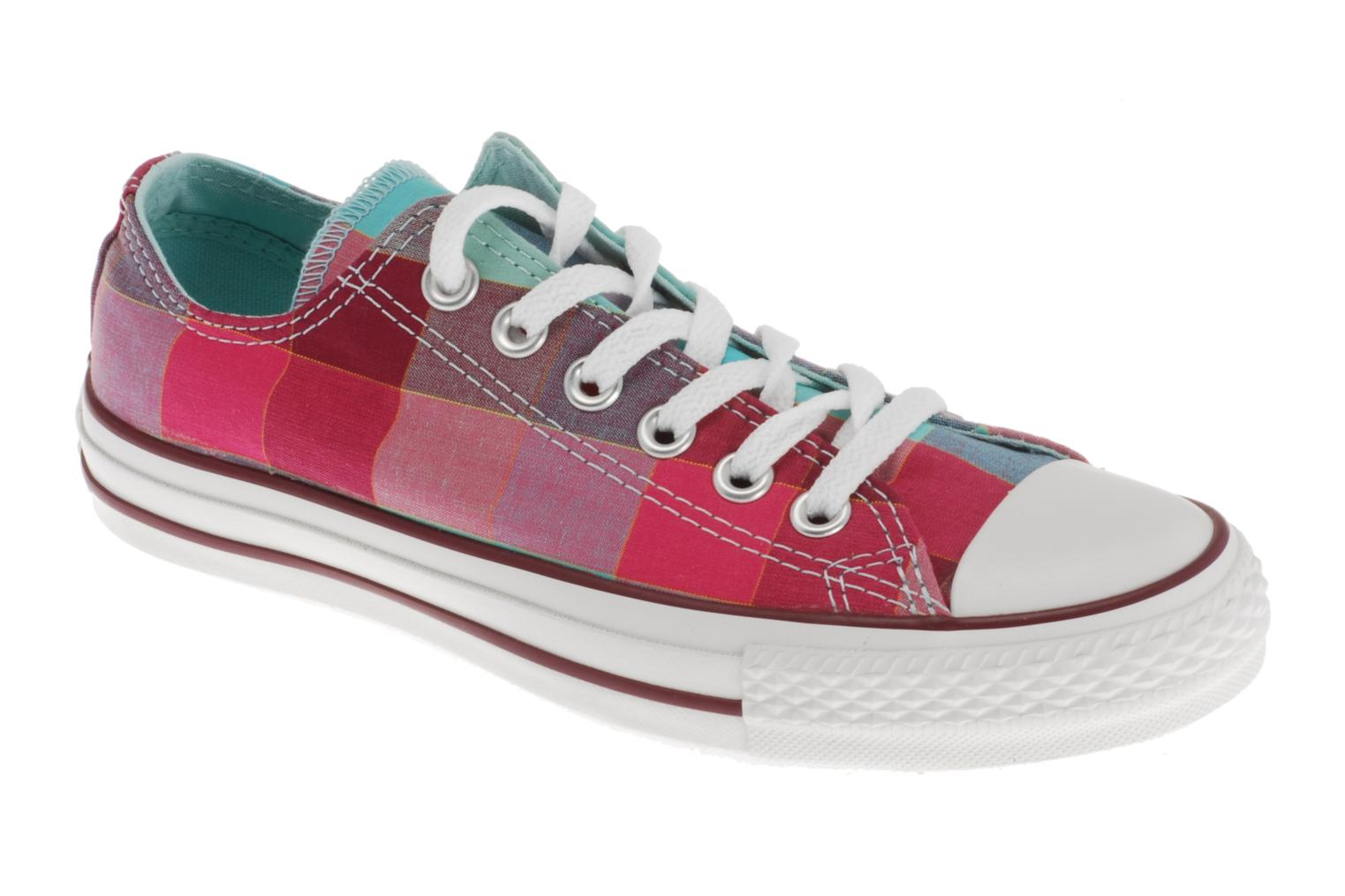 Chuck Taylor All Star Big Plaid Ox W Framboise/bleu