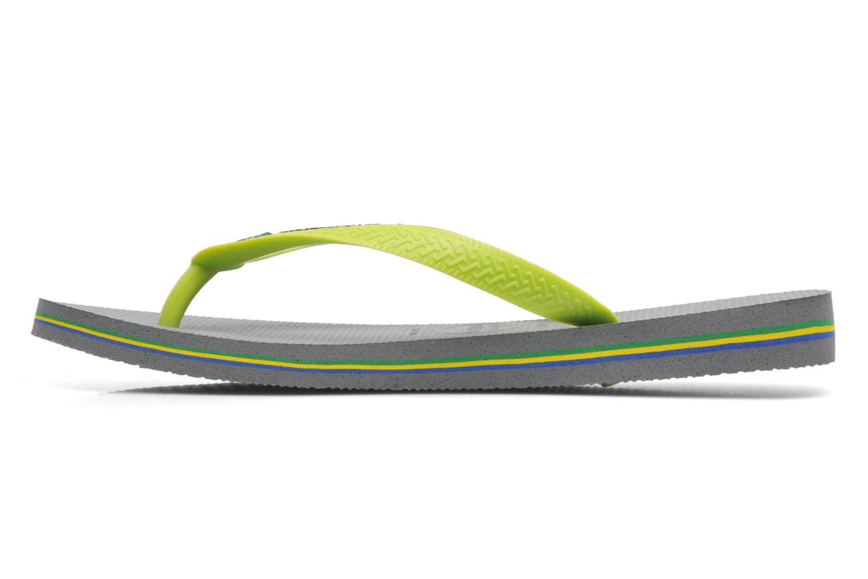 Tongs Havaianas Brazil Logo H Gris vue portées chaussures