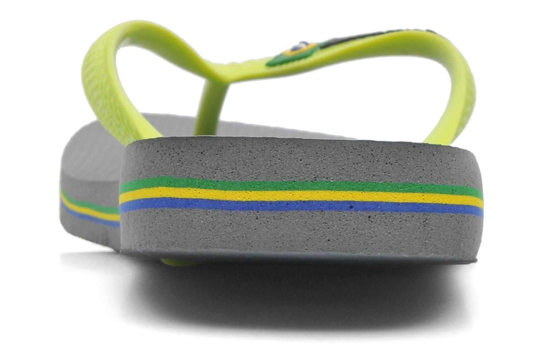 Zehensandalen Havaianas Brazil Logo H grau ansicht von vorne