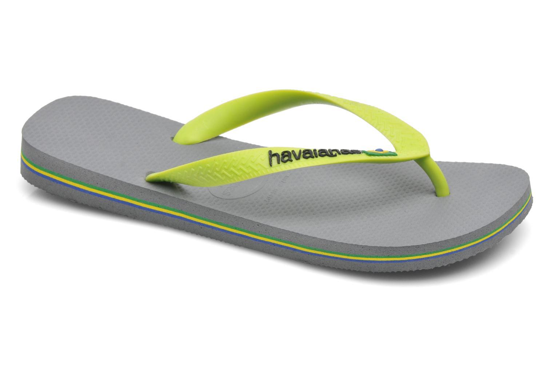 Flip flops Havaianas Brazil Logo H Grey detailed view/ Pair view