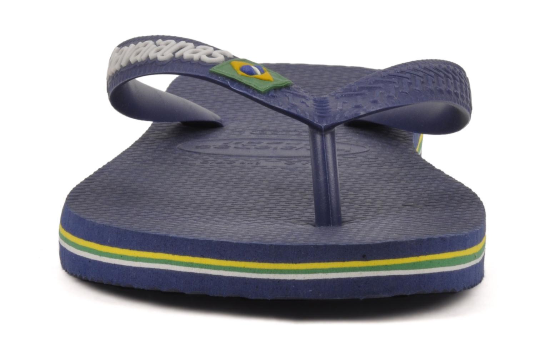 Zehensandalen Havaianas Brazil Logo H blau schuhe getragen