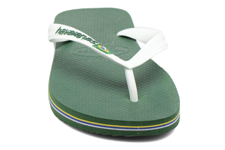 Tongs Havaianas Brazil Logo H Vert vue portées chaussures
