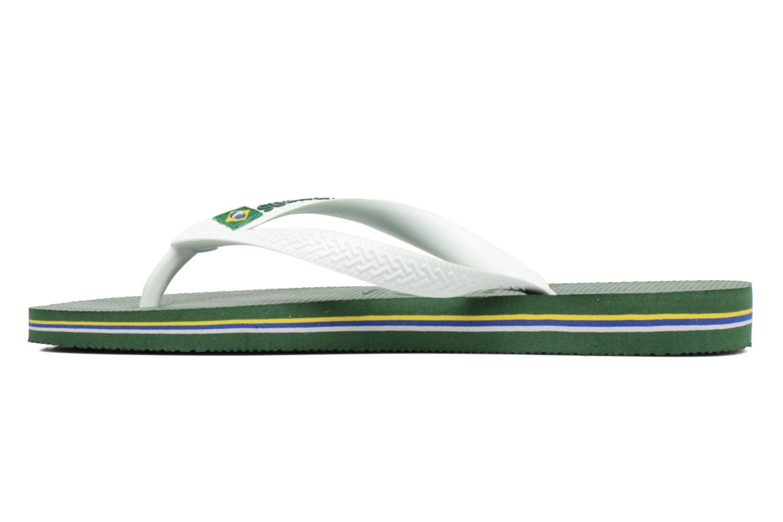 Flip flops Havaianas Brazil Logo H Grön bild från framsidan