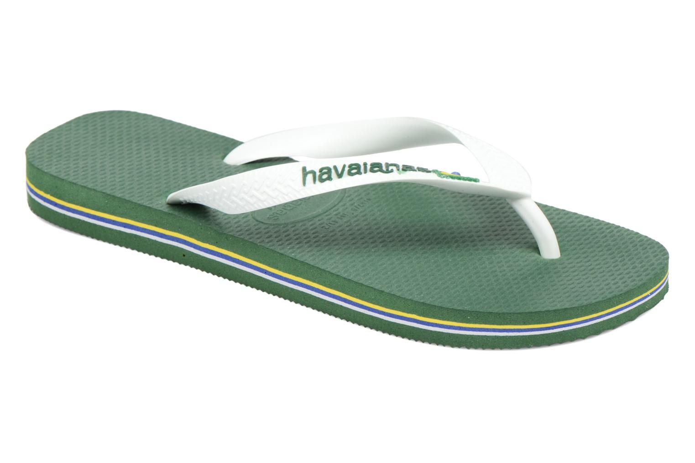 Flip flops Havaianas Brazil Logo H Grön detaljerad bild på paret