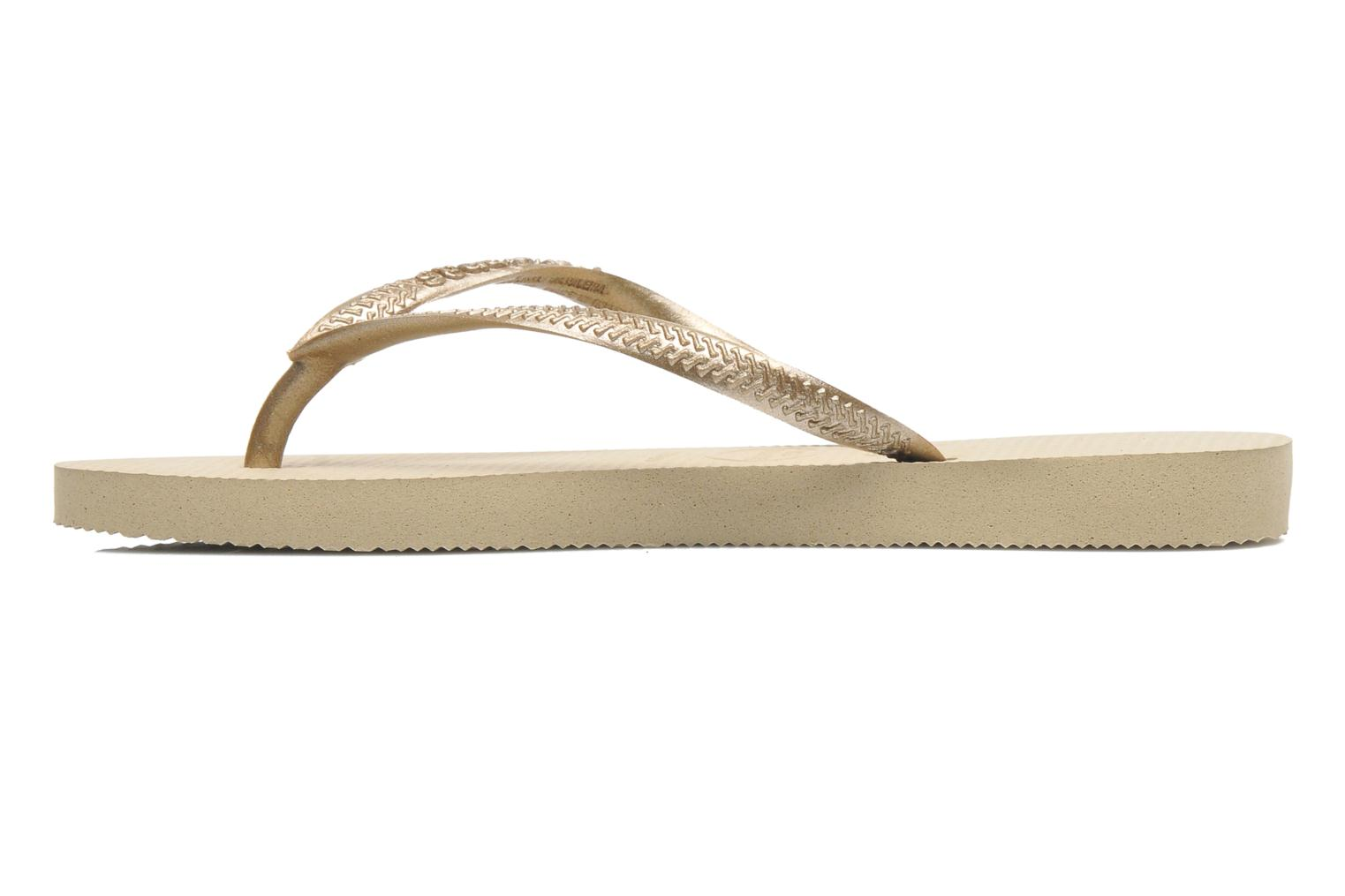 Flip flops Havaianas Kids Slim Bronze and Gold front view