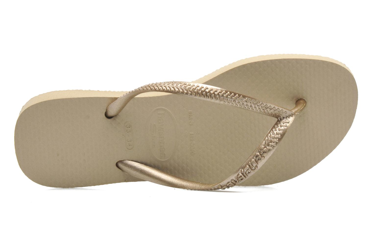 Flip flops Havaianas Kids Slim Bronze and Gold view from the left