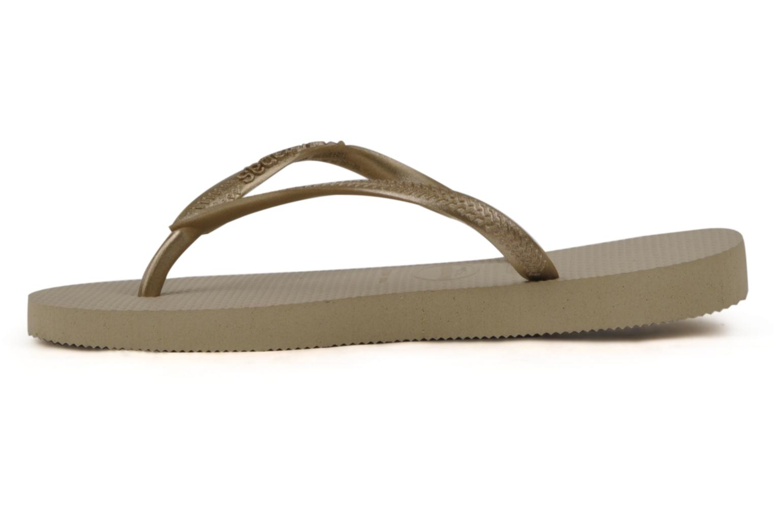 Tongs Havaianas Kids Slim Or et bronze vue face