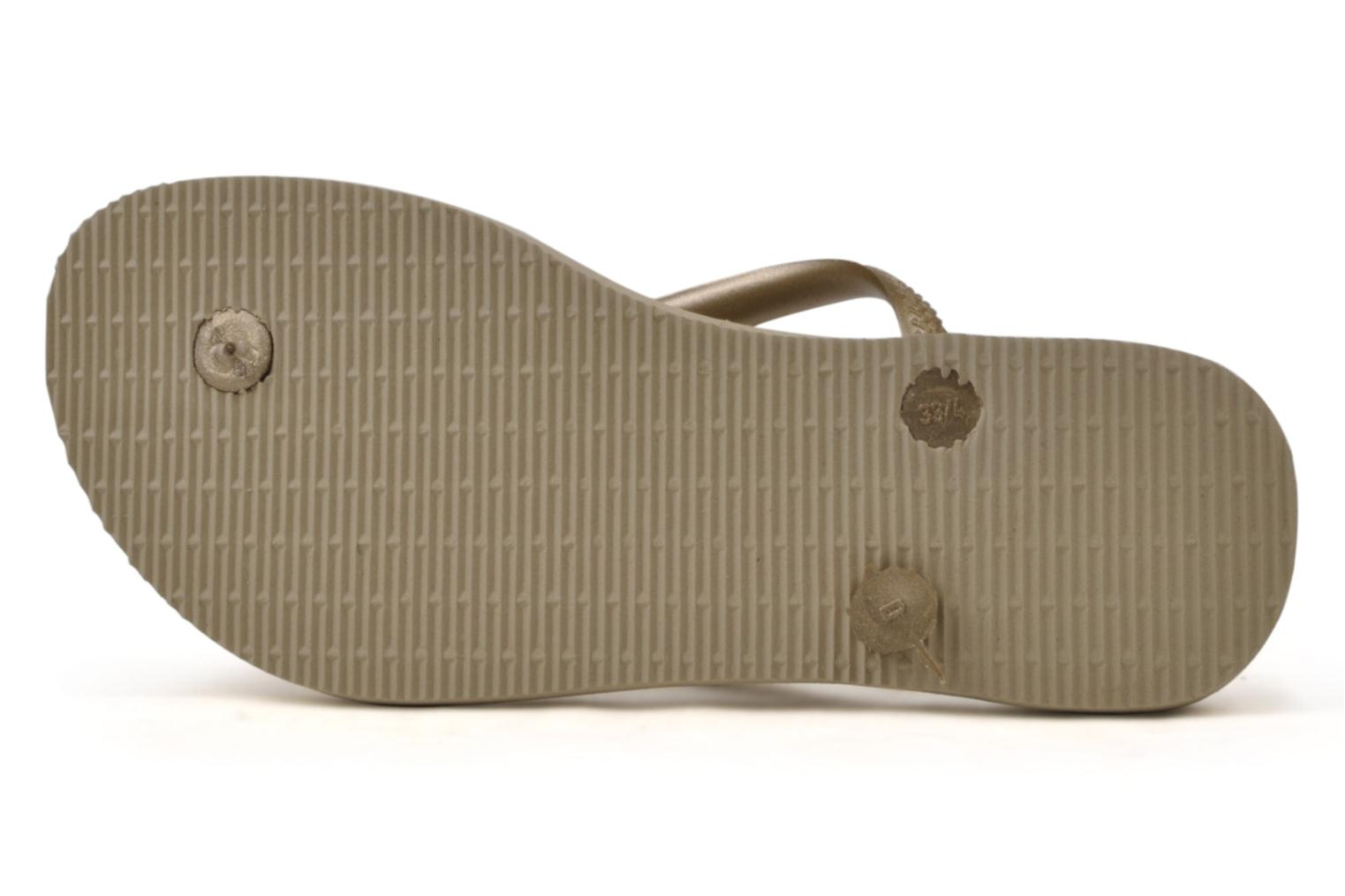 Tongs Havaianas Kids Slim Or et bronze vue haut