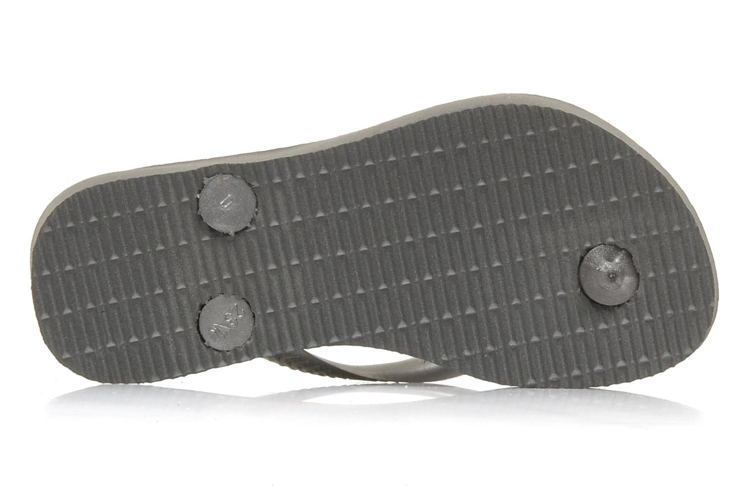 Flip flops Havaianas Kids Slim Grey view from above