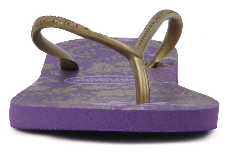 Flip flops Havaianas Slim Season Femme Purple model view