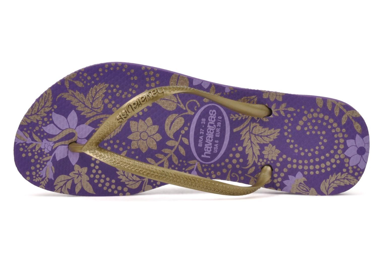 Flip flops Havaianas Slim Season Femme Purple view from the left