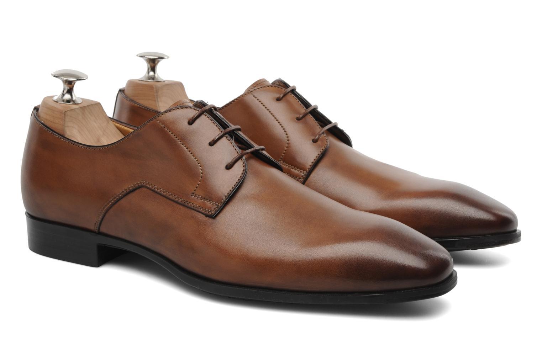 Chaussures à lacets Santoni Marlone 9290 Marron vue 3/4