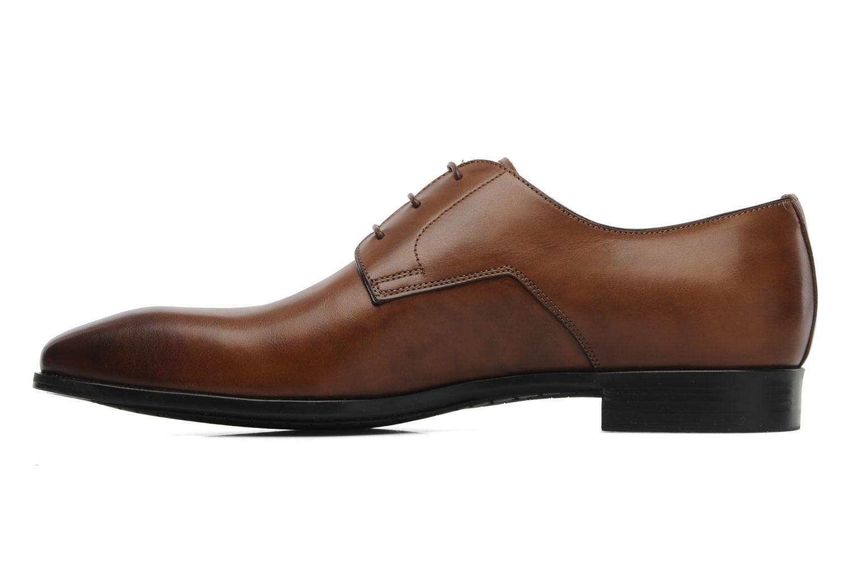 Chaussures à lacets Santoni Marlone 9290 Marron vue face