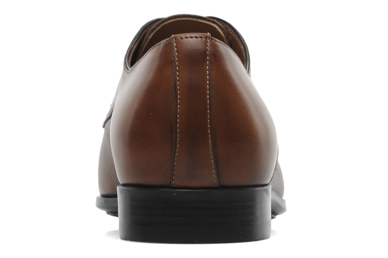 Zapatos con cordones Santoni Marlone 9290 Marrón vista lateral derecha