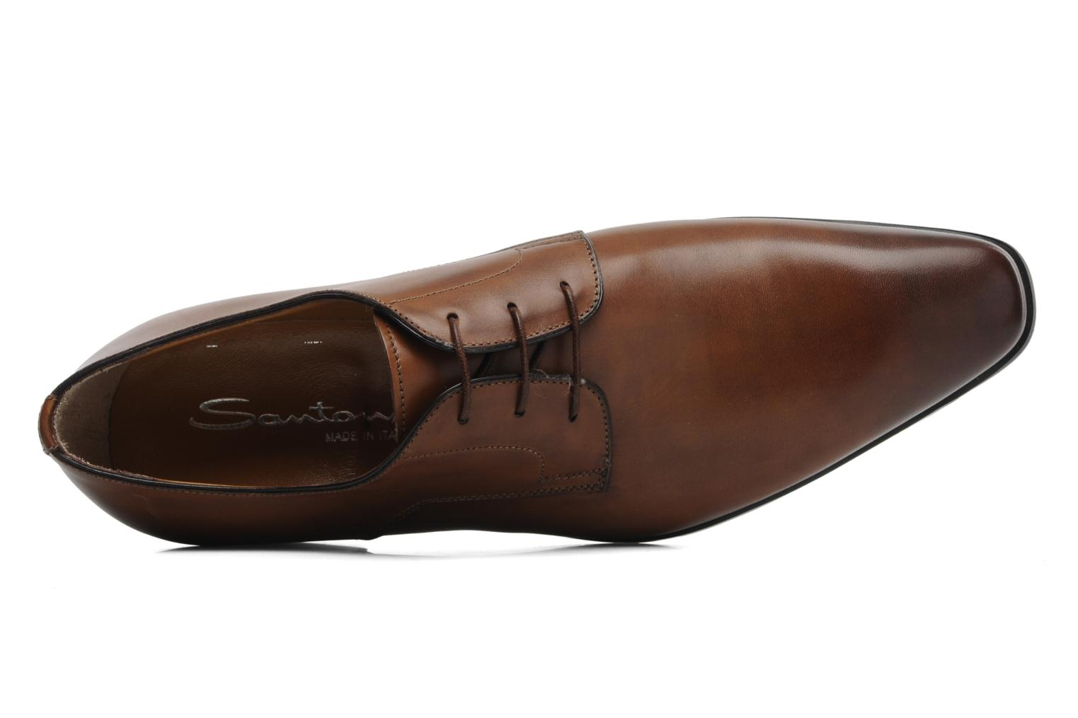 Lace-up shoes Santoni Marlone 9290 Brown view from the left