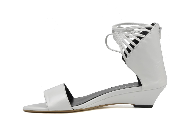 Sandales et nu-pieds Eden Evangelina Blanc vue face