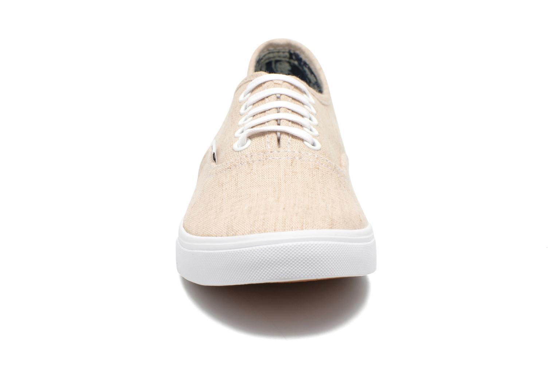 Baskets Vans Authentic Lo Pro W Beige vue portées chaussures