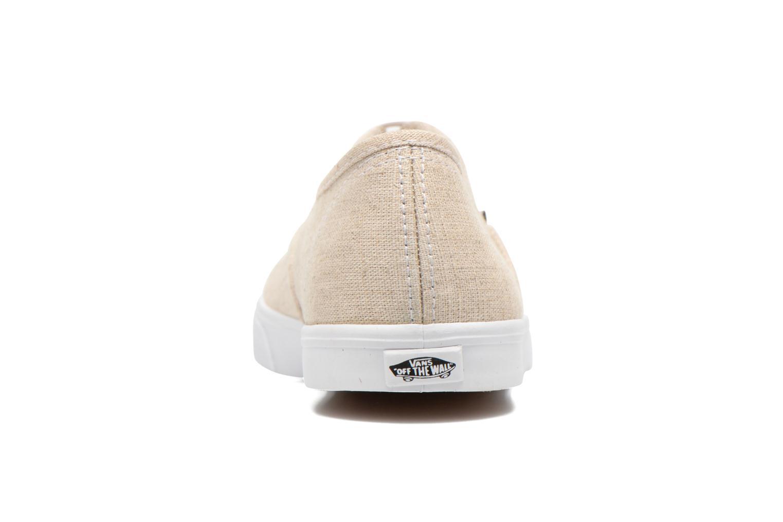 Baskets Vans Authentic Lo Pro W Beige vue droite