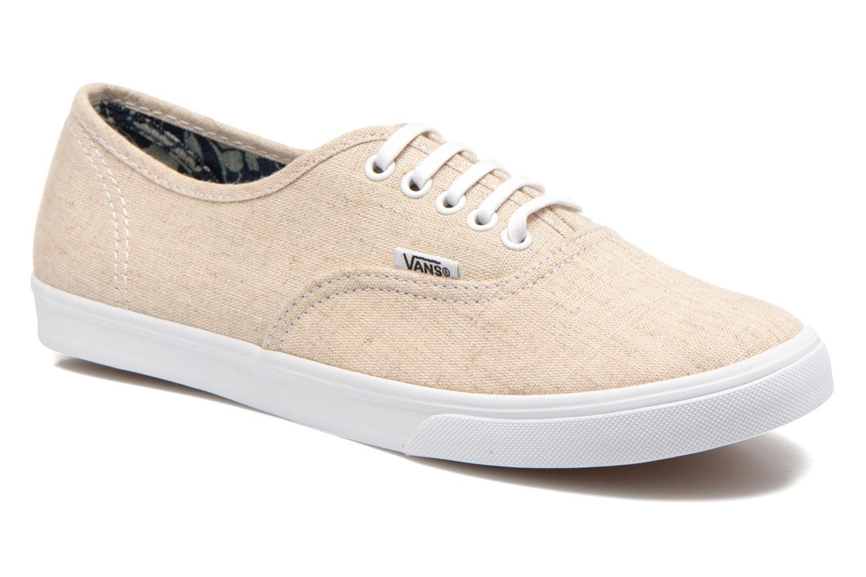 Baskets Vans Authentic Lo Pro W Beige vue détail/paire