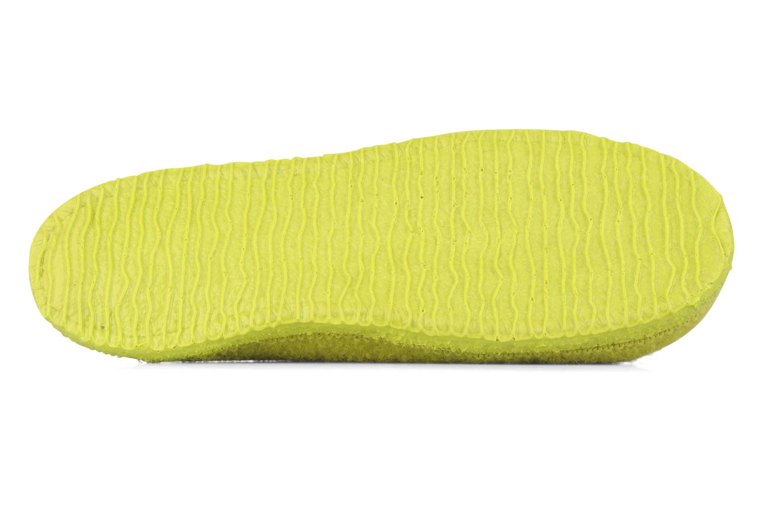 Slippers Giesswein Tino W Green view from above