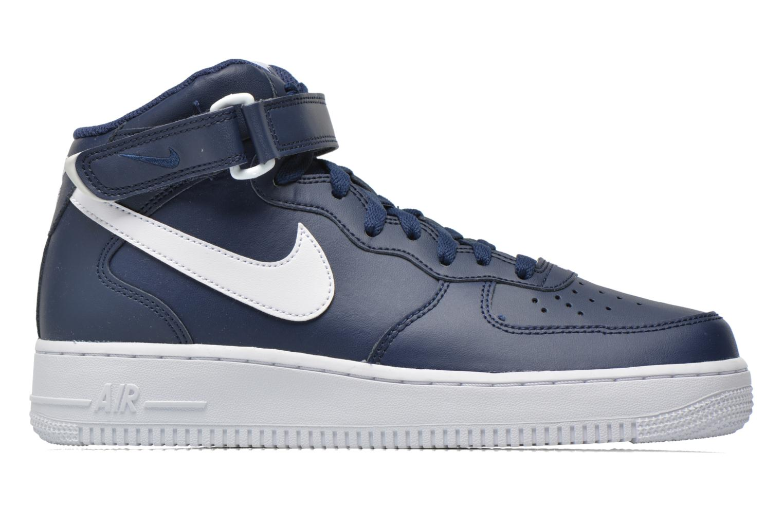 Obsidian/Obsidian-White Nike Air Force 1 Mid (Bleu)