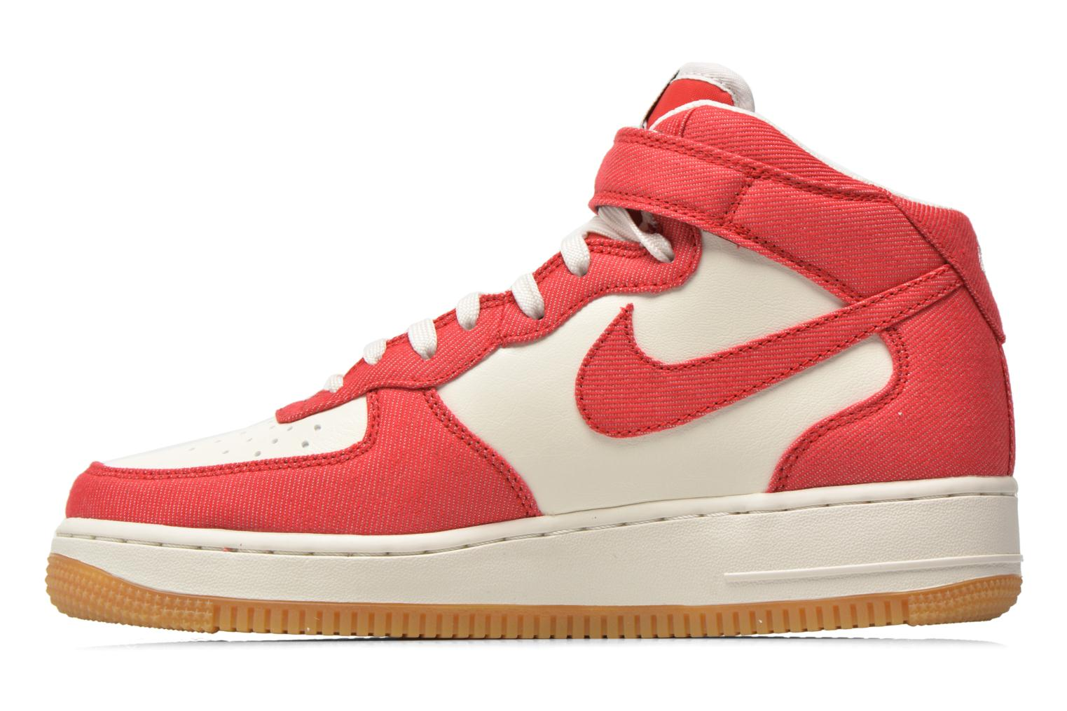 Baskets Nike Air Force 1 Mid Rouge vue face