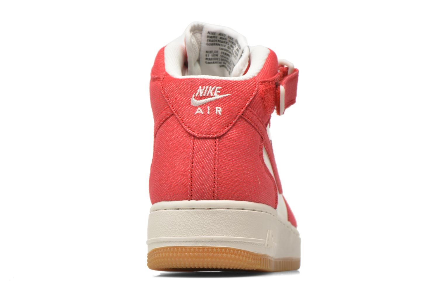 Baskets Nike Air Force 1 Mid Rouge vue droite