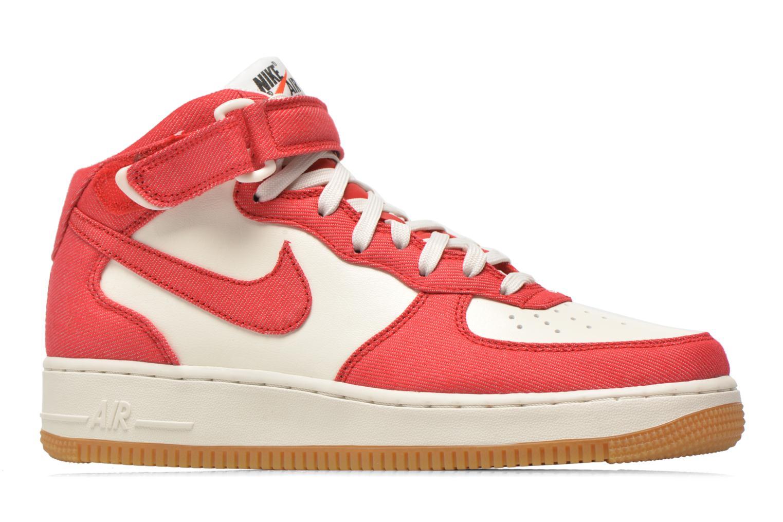 Baskets Nike Air Force 1 Mid Rouge vue derrière