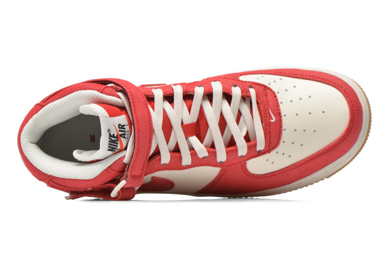 Baskets Nike Air Force 1 Mid Rouge vue gauche