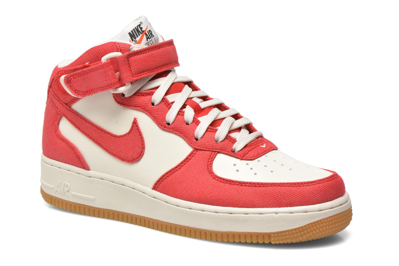 Baskets Nike Air Force 1 Mid Rouge vue détail/paire