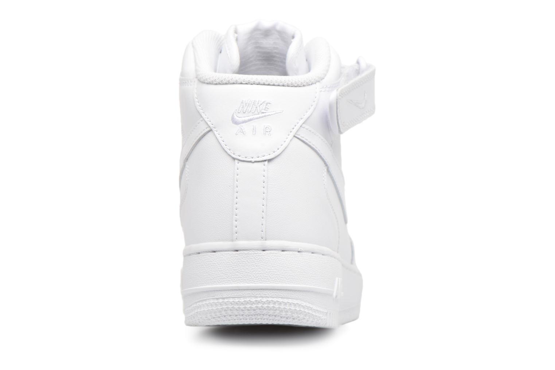 Deportivas Nike Air Force 1 Mid Blanco vista lateral derecha