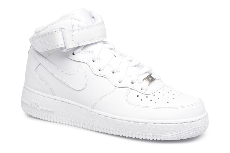 Deportivas Nike Air Force 1 Mid Blanco vista de detalle / par