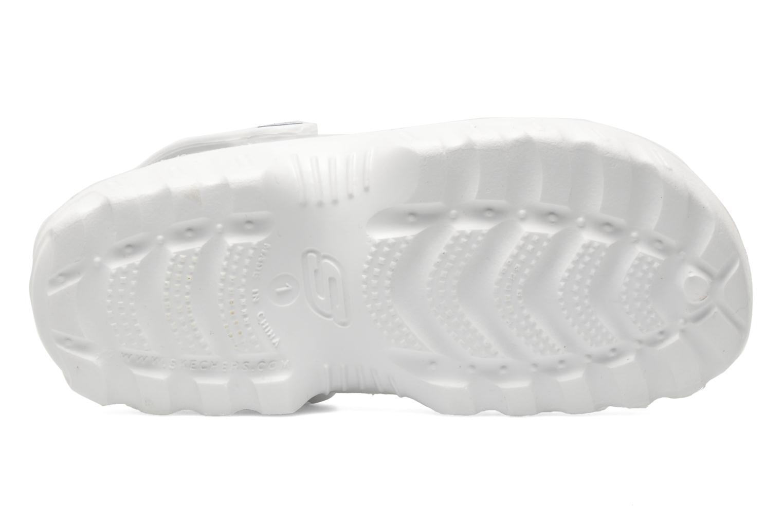 Sandales et nu-pieds Skechers Cali Gear Whirlies E Blanc vue haut