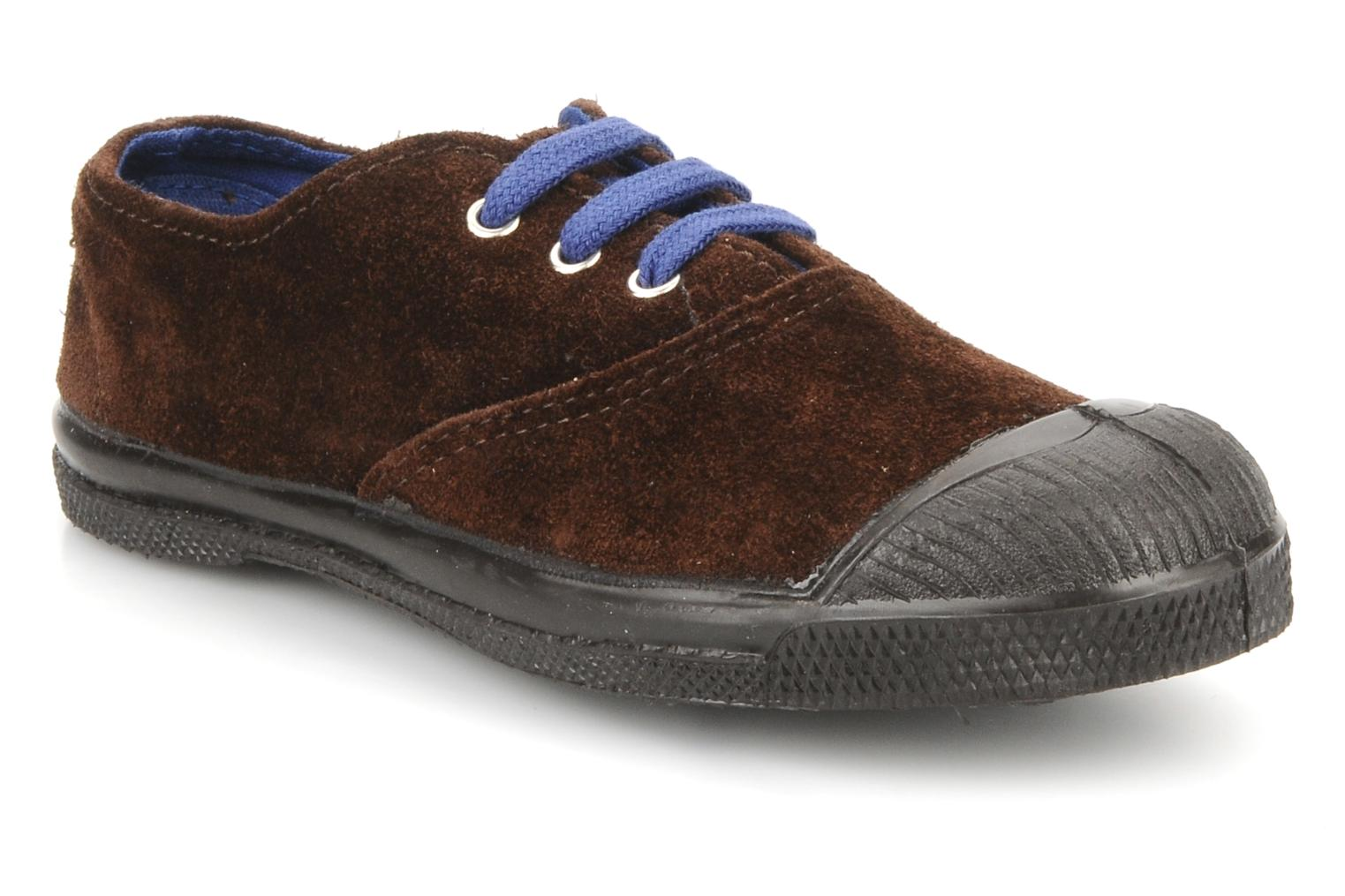 Trainers Bensimon Tennis Suede E Brown detailed view/ Pair view