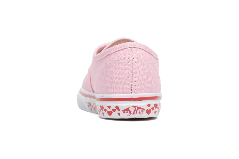Baskets Vans Authentic BB Rose vue droite