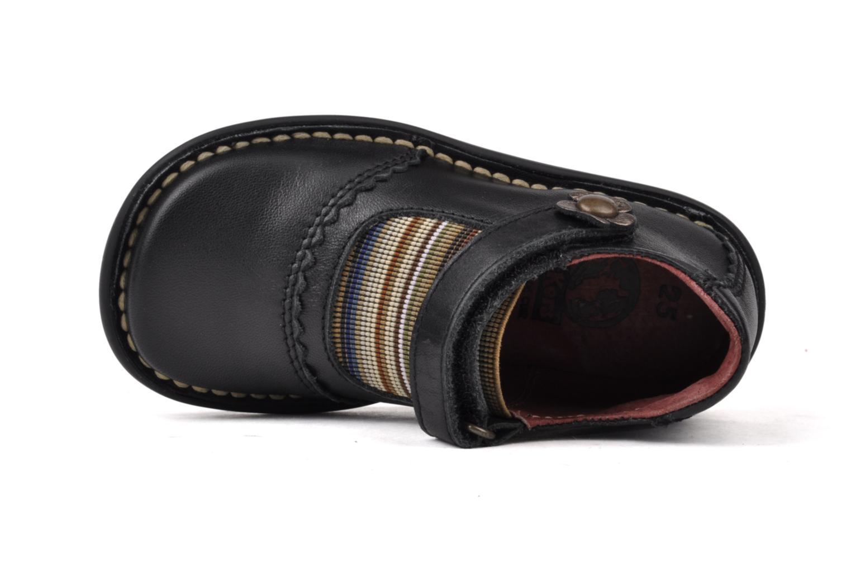 Chaussures à scratch Kickers Makup Noir vue gauche