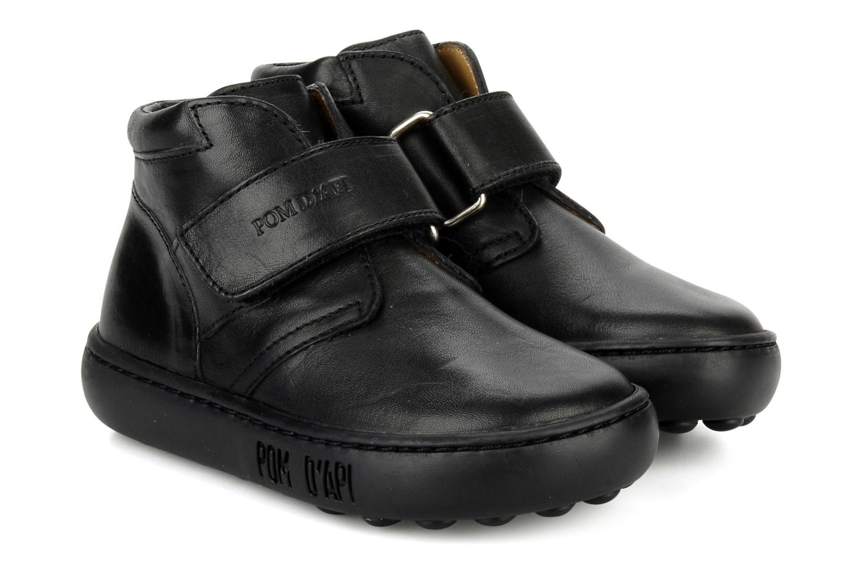 Chaussures à scratch Pom d Api Walk Desert Velcro Noir vue 3/4