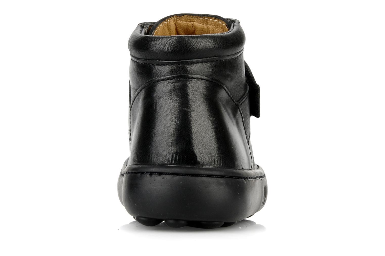 Chaussures à scratch Pom d Api Walk Desert Velcro Noir vue droite